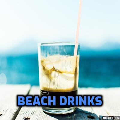 toplining instrumental track cover art of Beach Drinks